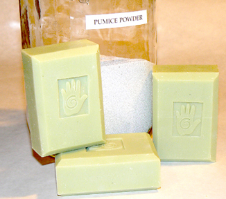 Bars of Peppermint and Pumice Soap, Handmade with Organic ingredients