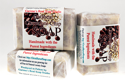 oatmeal chocolate chip Soap, Handmade with Organic ingredients