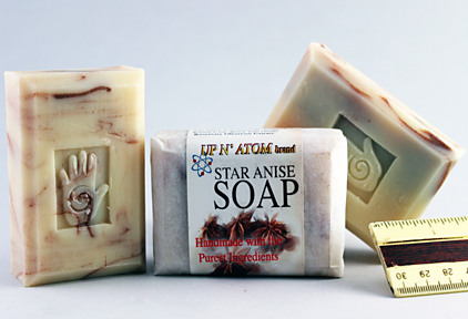 Bars of star anise Soap, Handmade with Organic ingredients