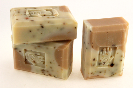 Bars of Tea Tree and Spearmint Soap, Handmade with Organic ingredients